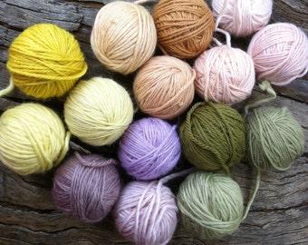 Botanically dyed yarn