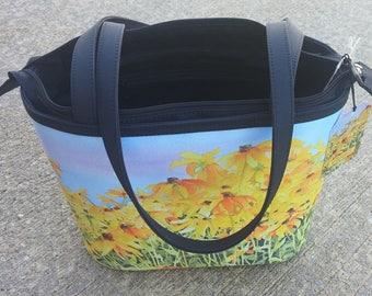 Black-eyed Susan Bucket Tote Bag