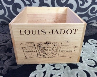 French wooden wine crate - Louis Jadot Beaune Premier Cru