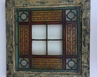 Stain Glass  Window Antique Salvage