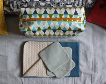 Kit coated geometric Exchange / Exchange mattress / tissue induced / reusable wipes