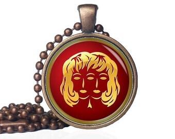 Gemini pendant - Gemini Necklace - Gemini Jewelry - Zodiac Necklace - Zodiac pendant - Zodiac Jewelry - Twins Necklace - Two of a Kind