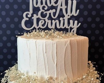 For Time & All Eternity Cake Topper