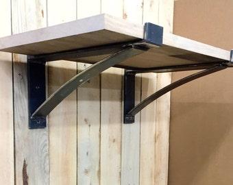 """17"""" - 26"""" Heavy Duty Flat Steel Industrial Shelf Brackets, Heavy Duty Shelf Brackets"""
