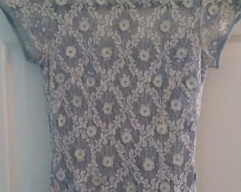 Carlye Vintage Lace and Linen dress size 0