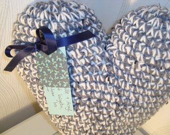 Heart Pillow crochet Pillow decoration sofa