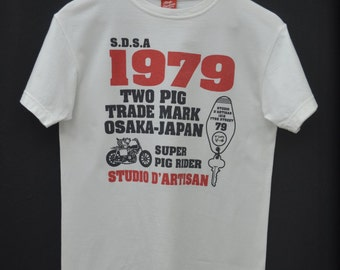 STUDIO D' ARTISAN Shirt Vintage 90's Studio D' Artisan Super Pig Rider Made In Japan Tee T Shirt Size S