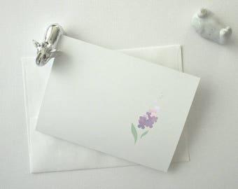 Hyacinthus Greeting Card, Blank Card, Handmade Greeting Cards, Cute Cards, Elegant Cards, All-Purpose Cards
