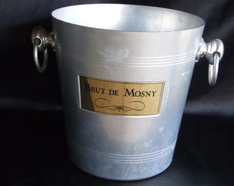 Champagne Bucket// Ice Bucket//Wine cooler//Brut De Mosny Ice Bucket//French vintage ice bucket