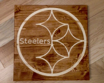 Pittsburgh Steelers Carved and Stained Wall Art