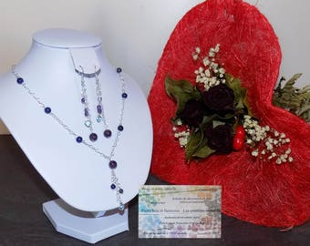 Set in argent925, amethyst and lapis lazuli