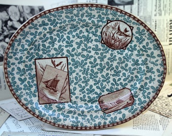 Victorian Aesthetic Movement Platter - Antique Transferware