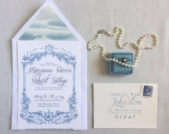 Custom Design for Wedding Invitation set