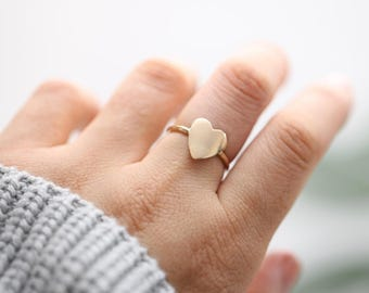 Heart Ring • Gold Heart Ring • Rose Gold Heart • Silver Heart Ring • Minimalist Ring • Simple Ring • Everyday Ring • Love Ring •