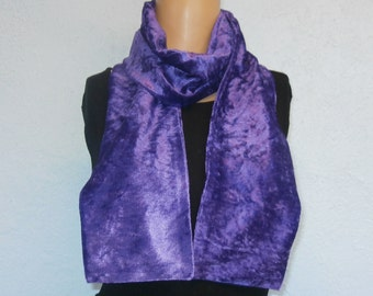 Purple Crushed Velvet Scarf 15 cm x150 cm Women's / Ladies Lovely Soft And Warm Great Accessory Gift