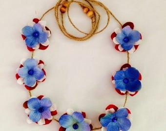 Patriotic headband/flower crown