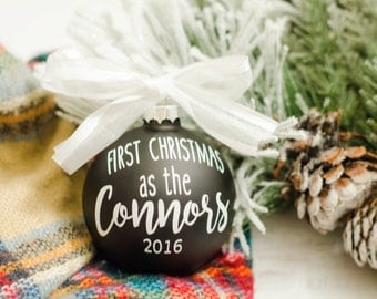 First christmas as mr and mrs, First Married Christmas Ornament, Ornament Married, Christmas ornament, Mr and Mrs gift, Newlyweds Ornament
