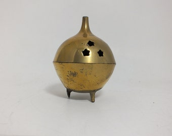 Brass Incense Burner Round New