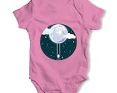 Full Moon Swing Baby Unisex Funny Baby Onesie Baby Grow Bodysuit