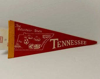 Tennessee, The Volunteer State - Vintage Pennant