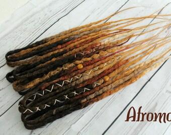 "DE Synthetic Dreads Extension Crochet Dreadlocks ""Dark Boho"" Afromod"