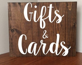Gifts and Cards Sign//Rustic Gifts and Cards Sign//Wedding Sign//Rustic Wedding//Rustic//Any Size//Any Occasion