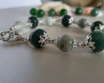 Malaysian Jade and Silver bracelet