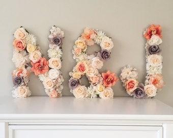 SALE! Wedding Letter, Floral Letter, Floral Monogram, Wedding Monogram, Bridal Shower Decor, Shower Gift, Floral Wedding Decor, Reception