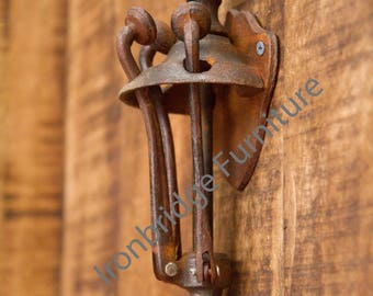 Retractable hat or coat hooks vintage style - cast Iron