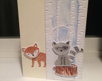 Foxy friends card