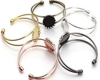 10pcs 20mm round setting Blank Bracelet Cuff, bracelet blanks, Bezel Bracelet Blank, Bracelet Tray, Bezel Cuff