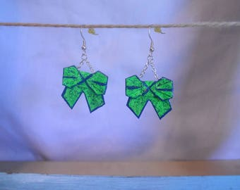 Bow to me Origami Earrings, bow origmai earrings, cute bows