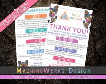 LuLa Thank You Care Card LLR Thank You Care Cards • Home Office Approved Fonts and Colors • LuLa Marketing Materials • MachineWerks