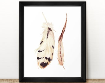 "Feather Print | 8"" x 10"" 
