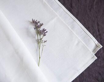 SALE! White linen towel / 46 x 100 cm / natural linen / eco linen / linen bath towel / linen kichen towel