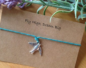 Fly high, dream big bracelet