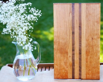 Wood Cutting Board - Cherry, Oak and Walnut