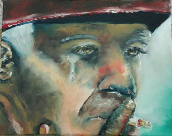 Buddy from the Ruhr area. Good luck. Bergmann painted in oil with your fingers without brush