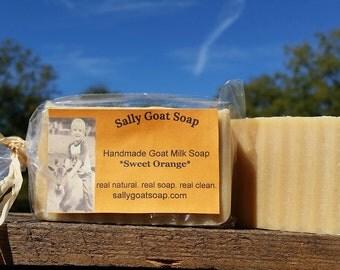 Sweet Orange Essential oil goat milk soap