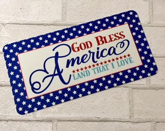 Patriotic Welcome Sign - Fourth of July Sign - God Bless America Sign - Wreath Sign  - Wreath Attachment