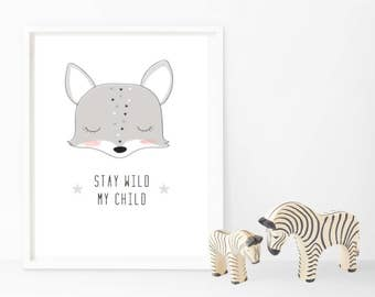 Stay Wild My Child - Monochrome - Changeable Characters