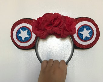 Captain America Inspired Disney Ears