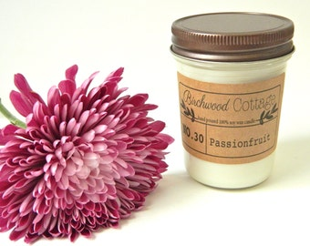Passion Fruit // Soy Candle // Flower Candle // Soy Wax Candles // Natural Candles // Soy Candles Handmade // Best Friend Gift