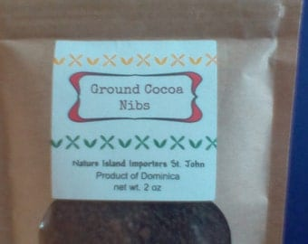 Fresh Ground Cocoa Nibs- best cocoa tea ever!- from Dominica