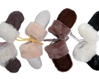 sheepskin mittens; baby mittens; fingerless mittens
