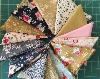Tilda - Memory Lane - Fat Quarter Bundle - 14 Pieces