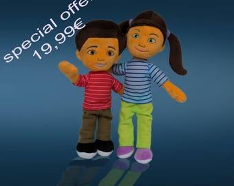 Plush Dolls Pair
