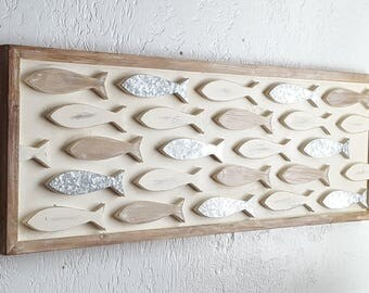 Charmant Wood Fish Wall Decor / Coastal Decor / Wooden Fish Decor/ Beach House Wall  Art