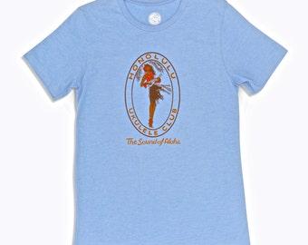 Honolulu Ukulele Club Vintage Graphic T Shirt.