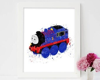 Thomas the Tank Engine, thomas and friends, Thomas the Train printables, thomas poster, Nursery thomas print,nursery wall art,nursery poster
